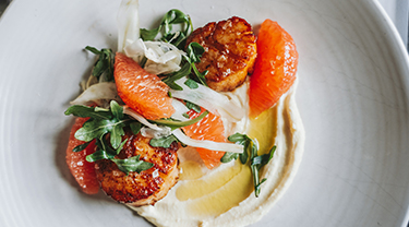 The Grill scallops