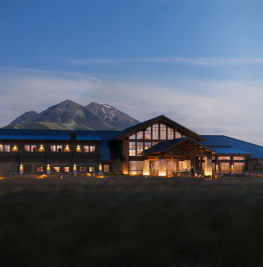 SAge Lodge at night