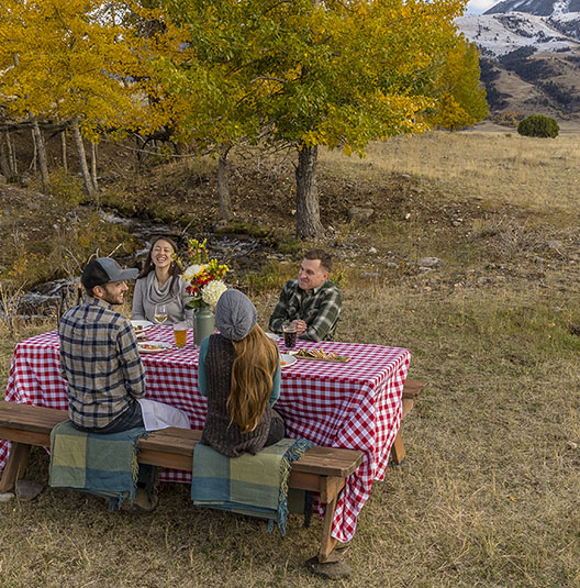 picnic in backcountry