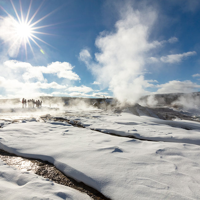 geysers in the snow