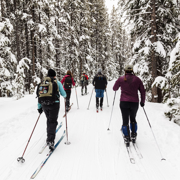 Cross-country skiing in Paradise Valley