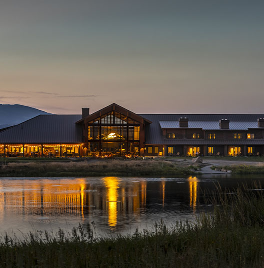 Sage Lodge overlooking pond